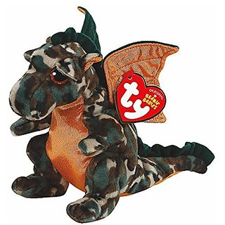 Claires Accessories Ty Beanie Babies Small Razor The Dragon Plush Toy Green