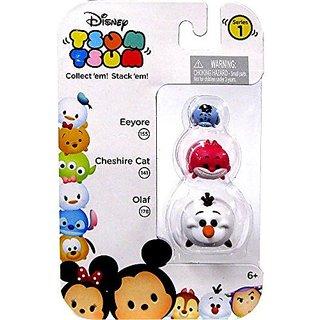 Disney Tsum Tsum Mini Figure 3 Pack Eeyore, Cheshire Cat And Olaf
