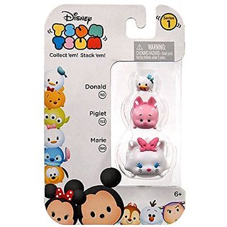 Disney Tsum Tsum Mini Figure 3 Pack Donald, Piglet And Marie