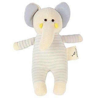 100% Organic Cotton Baby Stuffed Plush Animal Toy Doll Gift No Dyeing Elephant Doll