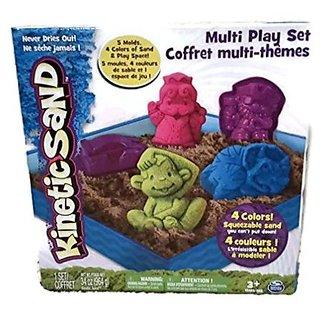 Kinetic Sand Multi Play Set Monkey Dinosaur King Pirate Car