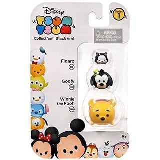Disney Tsum Tsum 3 Pack Figaro (119), Goofy (108), Winnie The Pooh (148)