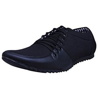 Essence Men's Black Synthetic Slip-On Casual Shoes