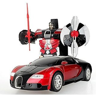 Kids 2.4 G Rc Transformer Robot Car Toy, Prime Radio Control Car Toy With  Music