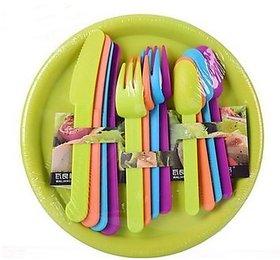 16 Pcs Dinnerware Dishware Set With Dinner Plates, Spoo