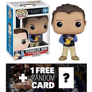 Chandler Bing: Funko POP! x Friends Vinyl Figure + 1 FREE American TV Themed Trading Card Bundle 58777