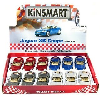 12 pcs in Box 5 Jaguar XK Coupe 1 38 Scale Blue Grey Red Silver by Kinsmart