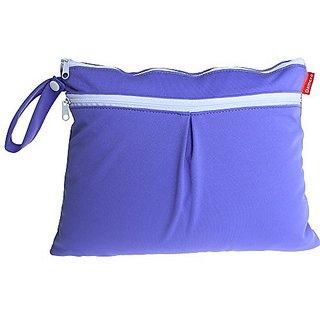 Damero New Cute Travel Baby Wet and Dry Cloth Diaper Organizer Bag, Purple