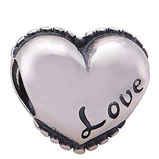 Love Heart 925 Sterling Silver Bead Fits Pandora Charm Bracelet