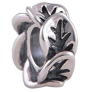 Leaf 925 Sterling Silver Bead Fits Pandora Charm Bracelet
