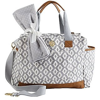 Mud Pie Bigger Bundle Diaper Bag Tote, Gray