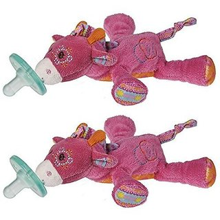 Mary Meyer Wubbanub Pacifier, Jasmine Giraffe (2 Pack)