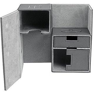 Twin FlipnTray Deck Case 160+ Standard Size XenoSkin Grey Card Game