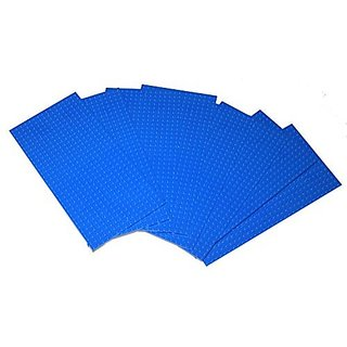 Eight 8 Pack of 10 x5 or 32x16 Studs Blue Baseplates Construction Base Plates with Back Connectors At Edge Allow Seamless Expansion