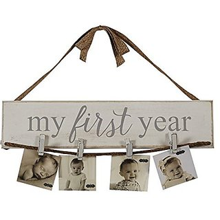 My First Year Wall Photo Holder By Mud Pie