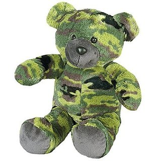 Recordable Camoflauge Military Bear w/ 30 Second Digital Recorder