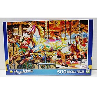 Puzzlebug 500 Piece Puzzle Colorful Carousel Horse