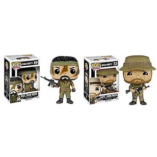 Funko POP Call of Duty MSGT. Frank Woods and CAPT. John Price 2 Piece BUNDLE