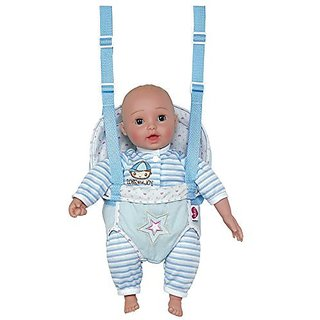 Adora GiggleTime Giggling Laughing Sounds Open/Close Eyes Baby Doll with Carrier - Blonde Hair Boy