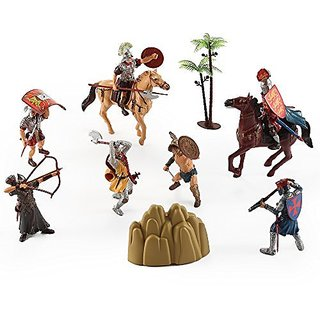 Roman Legion Warriors Military Soldier Action Figures Historical Playset Set of 7