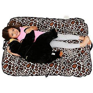 Woombie Toddler Donut Portable Play Mat, Brown Giraffe