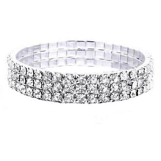 Sparkling Jewellery Silver Plated Silver Alloy Bajuband/ Armlet for Women