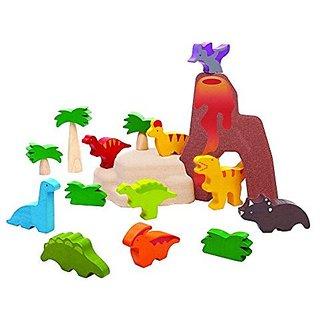 Plan Toys 6621 Dinosaurs Set Toy Figure
