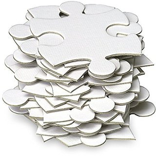 Jigsaw2order Extra Large Blank Jigsaw Puzzle, Wedding Guest Book Puzzle, 105 Large Numbered Blank Puzzle Pieces, Size 18 x 37in