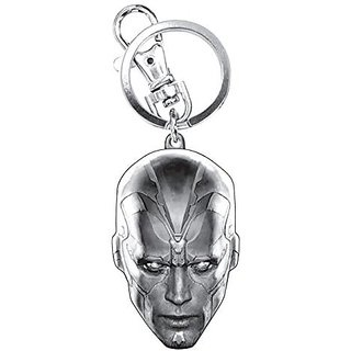 Marvel Avengers 2 Vision Head Pewter Key Ring Action Figure