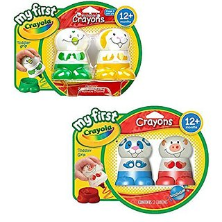 Crayola Washable Crayons for Toddlers - My First Crayola Bundle of 4 Crayon Characters