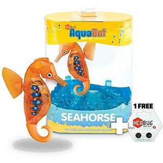 Orange Seahorse: Hexbug Aqua Bot Seahorse Series + 1 Free Pack Of Official Hex Bug Power Cells (2 Cells) Bundle