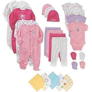 Garanimals Newborn Girl 21 Pc Layette Set And 2 Pc Baby Wash Cloth Bundle (3 6 Months) By Garanimals