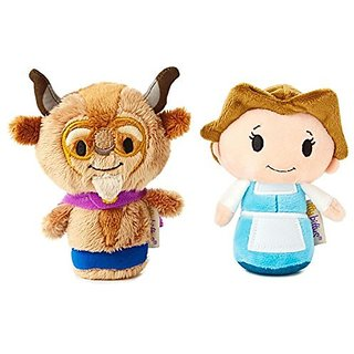 Disneys Belle and The Beast Hallmark itty bittys Plush Set of 2