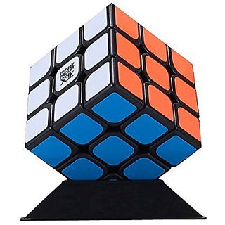 2015 New Yj Moyu Hualong Speed Cube Puzzle New Moyu 3x3 Black(Shipping by FBA USA)
