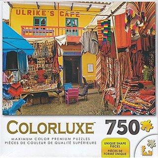 Colorluxe 750 Piece Puzzle - Colorful Market Pissac