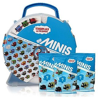 Friends Minis Collectors Playwheel Storage Case includes Mini Golden Thomas and 3 Packs of