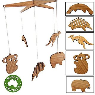 And Mobile Nursery Mobiles for Baby Room - Wooden Made in Australian from Sustainable Timber 100% Australian Made Real Wood