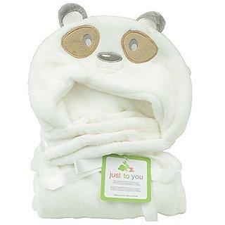 Yontree Cute Soft Baby Coral Fleece Bag Blanket Towel Hooded Bathrobe Towel Animal Shape