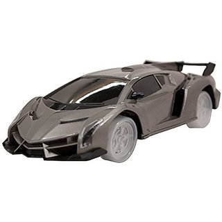 Techege Toys Charcoal Colored Lambo Style Super Car Bumpn Go Self Driving Realistic Sounds Flashing Lights