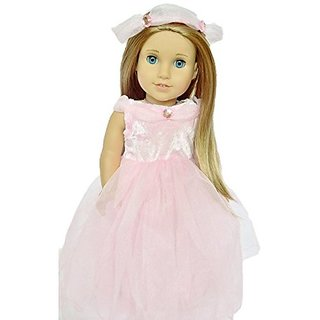 Pink Princess With Halo Dress For American Girl Dolls