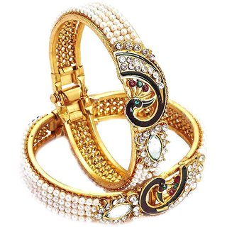 Penny Jewels Party Wear Latest Stylish Simple Bangles  Set For Women  Girls (Pack Of 2)