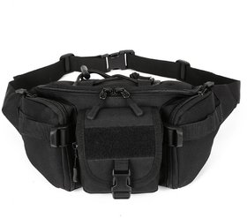 Aeoss Outdoor Unisex Waist Bag Tactical Military Waist Pack Chest Bag Pouch Waist Pack With Water Bottle Pocket Holder M
