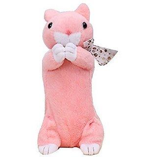 Joy Utoy Plush Pencil Case For Children Pink Rabbit Pouch Toys