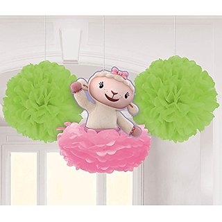 Amscan Doc Mc Stuffins Fluffy Decorations Kit, Green/Pink