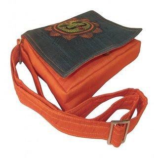 Indha Small Sun Emb Sling Bag Orange Color