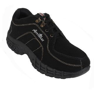 Earton Men/Boys Black Sports Running Shoes