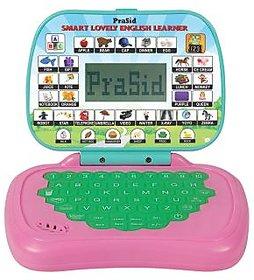 Prasid Smart Lovely English Learner Kids Laptop (Pink  Green)