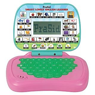 Prasid Smart Lovely English Learner Kids Laptop (Pink  Green)