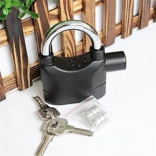 Siren Alarm Lock 110Db AntiTheft Security System Door Motor Bike Bicycle padlock