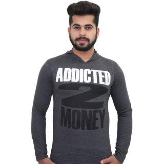 Addicted to money full sleeves Grey Tshirt
